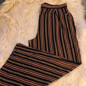 NWT Bell Bottom Stripped Pants